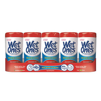 Wet Ones Antibacterial Wipes, 5 pk./48 ct.