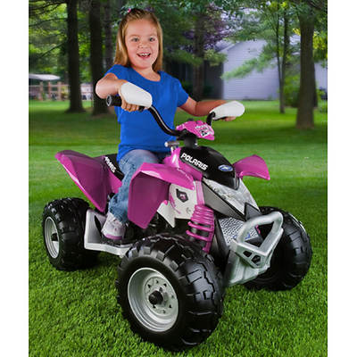Peg Perego Polaris Outlaw Pink Motorized ATV