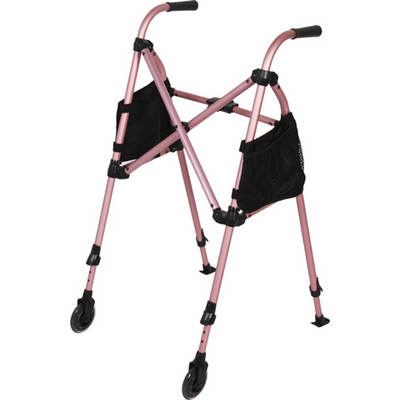 Stander 4100 Metro Walker with Wheels (Regal Rose)