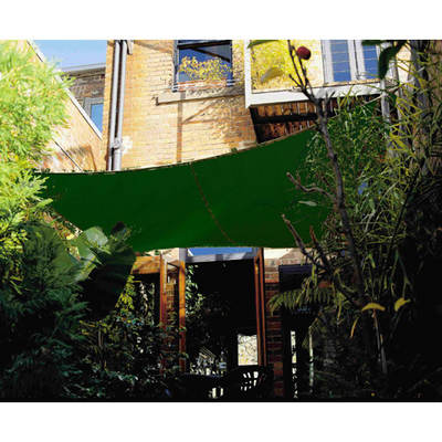 "Coolaroo 11'10"" Square Shade Sail - Brunswick Green"