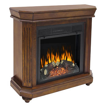 Pleasant Hearth Somerset Electric Fireplace - Chestnut
