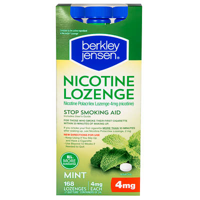 Berkley & Jensen 4mg Nicotine Polacrilex Lozenges - 168 Count