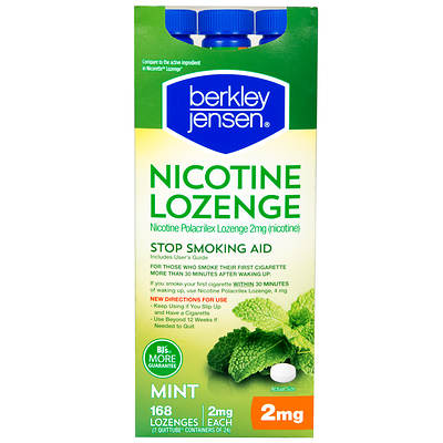 Berkley & Jensen 2mg Nicotine Polacrilex Lozenges - 168 Count