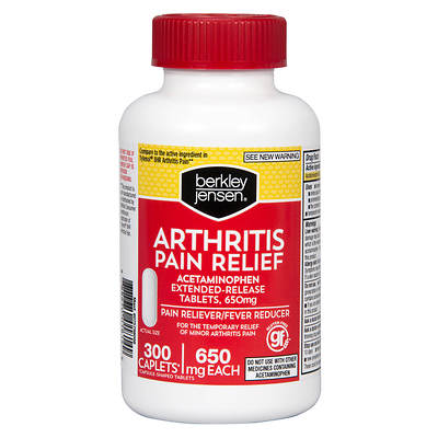 Berkley & Jensen 650mg Arthritis Pain Relief Extended-Release Tablets, 300 Count