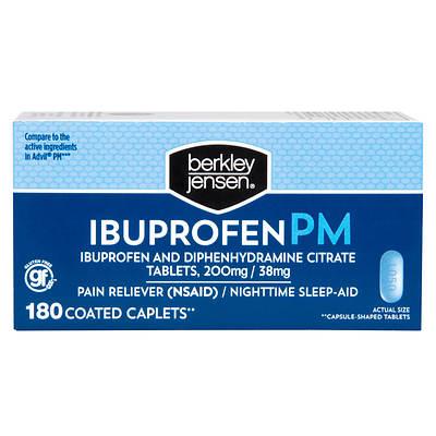Berkley & Jensen Ibuprofen PM Caplets, 180 Count