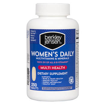 Berkley Jensen Women's Multivitamins and Minerals Supplement Tablets - 250 Count