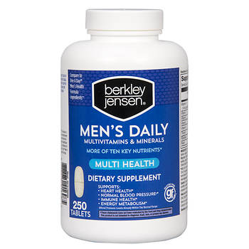 Berkley Jensen Men's Daily Multivitamins and Minerals Supplement Tablets, 250 ct.