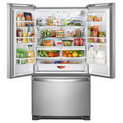 Whirlpool 22-Cu.-Ft. French Door Bottom-Mount Refrigerator - Stainless