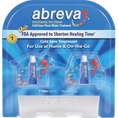 Abreva Cold Sore/Fever Blister Treatment Cream, 2-Pk