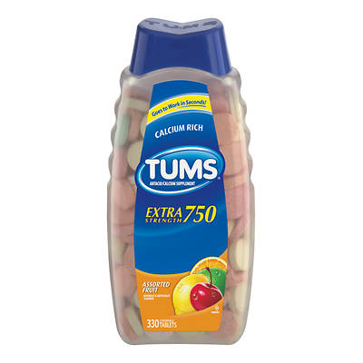Tums Extra Strength Fruit Antacid Tablets, 330 Count