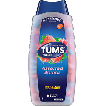 Tums Ultra Strength Assorted Berries Antacid Tablets, 265 Count