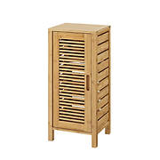 Linon Bracken 1-Door Floor Cabinet - Natural Bamboo
