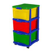Bella Storage Solution Build & Store 3-Drawer Storage Unit - Multicolo
