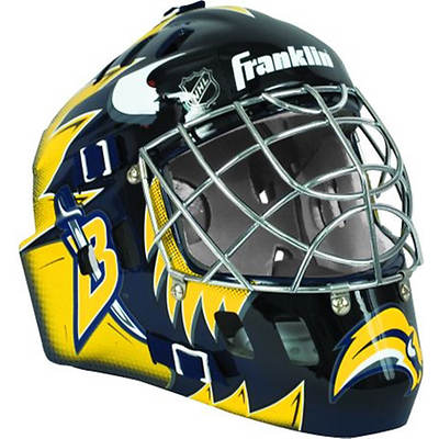Franklin NHL Team SX Comp GFM 100 Youth Goalie Face Mask - Buffalo Sabres