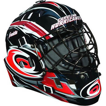 Franklin NHL Team SX Comp GFM 100 Youth Goalie Face Mask - Carolina Hurricanes