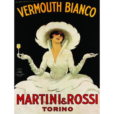 """Marcello Dudovich """"Vermouth Bianco Martini & Rossi"""" Giclee Art Print, 24"""" x 32"""""""