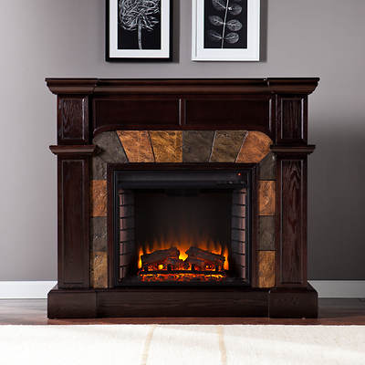 Provincial Electric Fireplace - Espresso