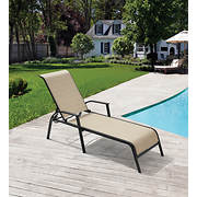 Berkley Jensen Sling Chaise Lounge with Multi-Position Back