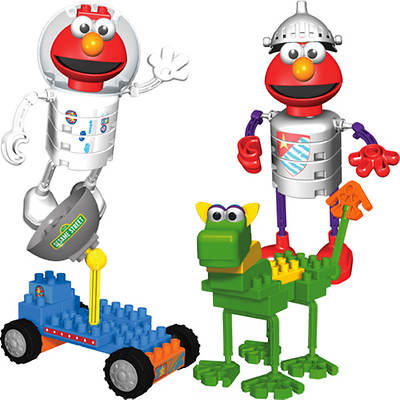 Kid K'NEX Sesame Street Elmo's Space Adventure and Dragon Adventure Building Sets