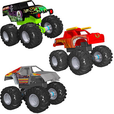 K'NEX Grave Digger, Maximum Destruction and El Toro Loco Monster Jam Intro Assortment