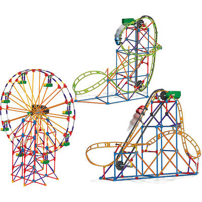 K'NEX Collect & Build Amusement Park Series #2 with Corkscrew Coaster, Vertical Viper Coaster and Ferris Wheel