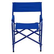 E-Z UP Standard Aluminum/Fabric Director's Chair - Royal Blue