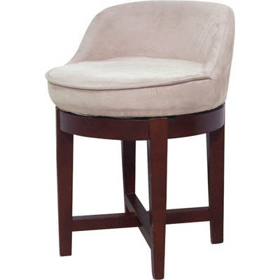 Elegant Home Metro Microfiber Swivel Chair - Beige/Cherry