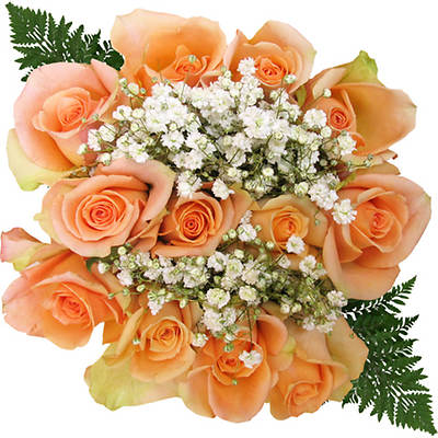 Rose Bouquets, 96 Stems - Peach