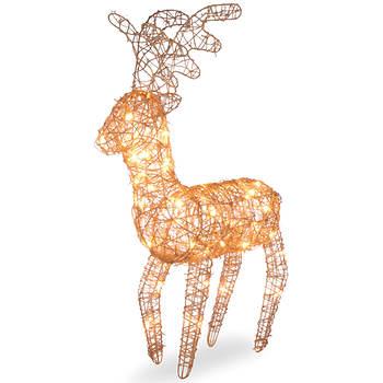 "27"" Pre-Lit Rattan Reindeer"
