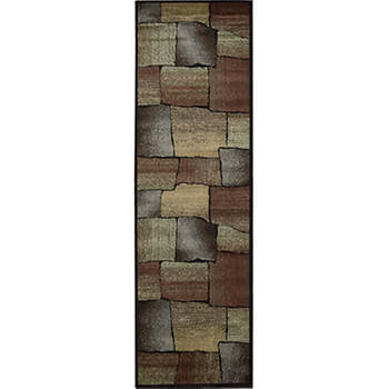 Woolen Touch 2' x 8' Rug - Multicolor/Contemporary