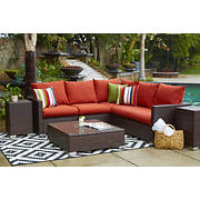 Handy Living Outdoor Sectional - Terracotta