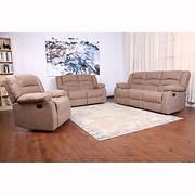 eBello Home Beekman 3-Pc. Reclining Sofa Set - Brown