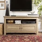 "W. Trends 44"" Wood TV Stand Storage Console - Driftwood"