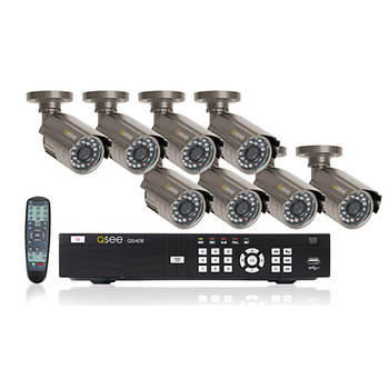 Q-See 8-Channel H.264 DVR with 8 Weatherproof Color Cameras and 500GB Hard Drive