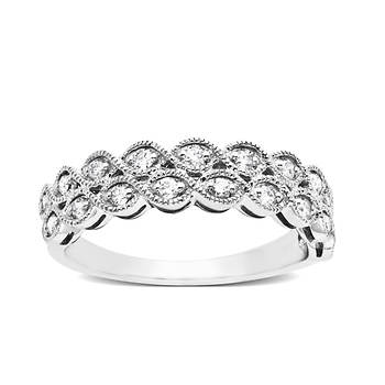 .30 ct. t.w. Diamond Milgrain Ring in 14K White Gold