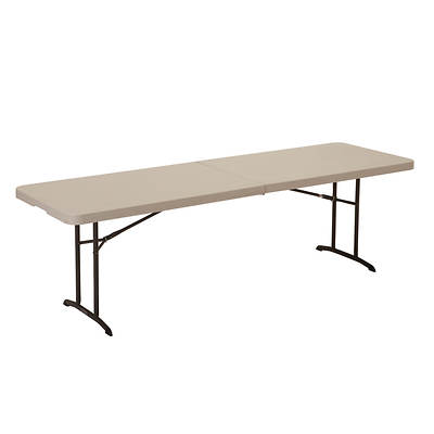 Lifetime 8' Fold-In-Half Banquet Table - Almond