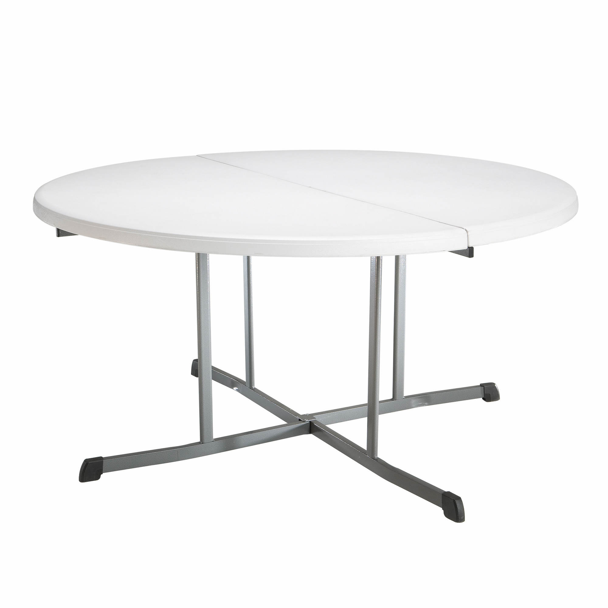 Fold In Half Round Table Lifetime 60 Fold In Half Round Table White Bjs Wholesale Club