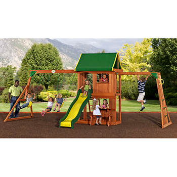 Backyard Discovery Lexington Swing Set with Extra Wide Fort