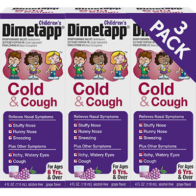 Dimetapp Children's Cold and Cough Medicine, 4 Fl. Oz., 3-Pk