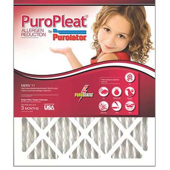 """Purolator 16"""" x 25"""" MERV 11 PuroPleat Allergen Reduction Filters, 4-Pk"""
