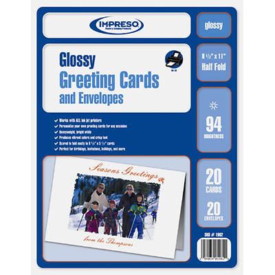 TST Impreso 94 Brightness Glossy Greeting Cards and Envelopes, 20-Pk