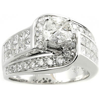 2.50 ct. t.w. Diamond Q'uortia Bridal Ring in 14K White Gold