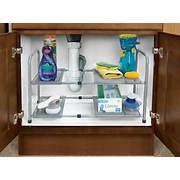 Smart Design 2-Tier Expandable Under-the-Sink Shelf