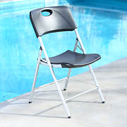 Lifetime Contemporary Light Commercial Folding Chair - Black