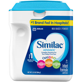 Similac OptiGRO Advanced Stage 1 Powder Infant Formula, 34 Oz