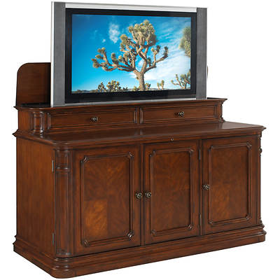 Banyan Creek TV Lift Cabinet with Motorized Lift - Brown