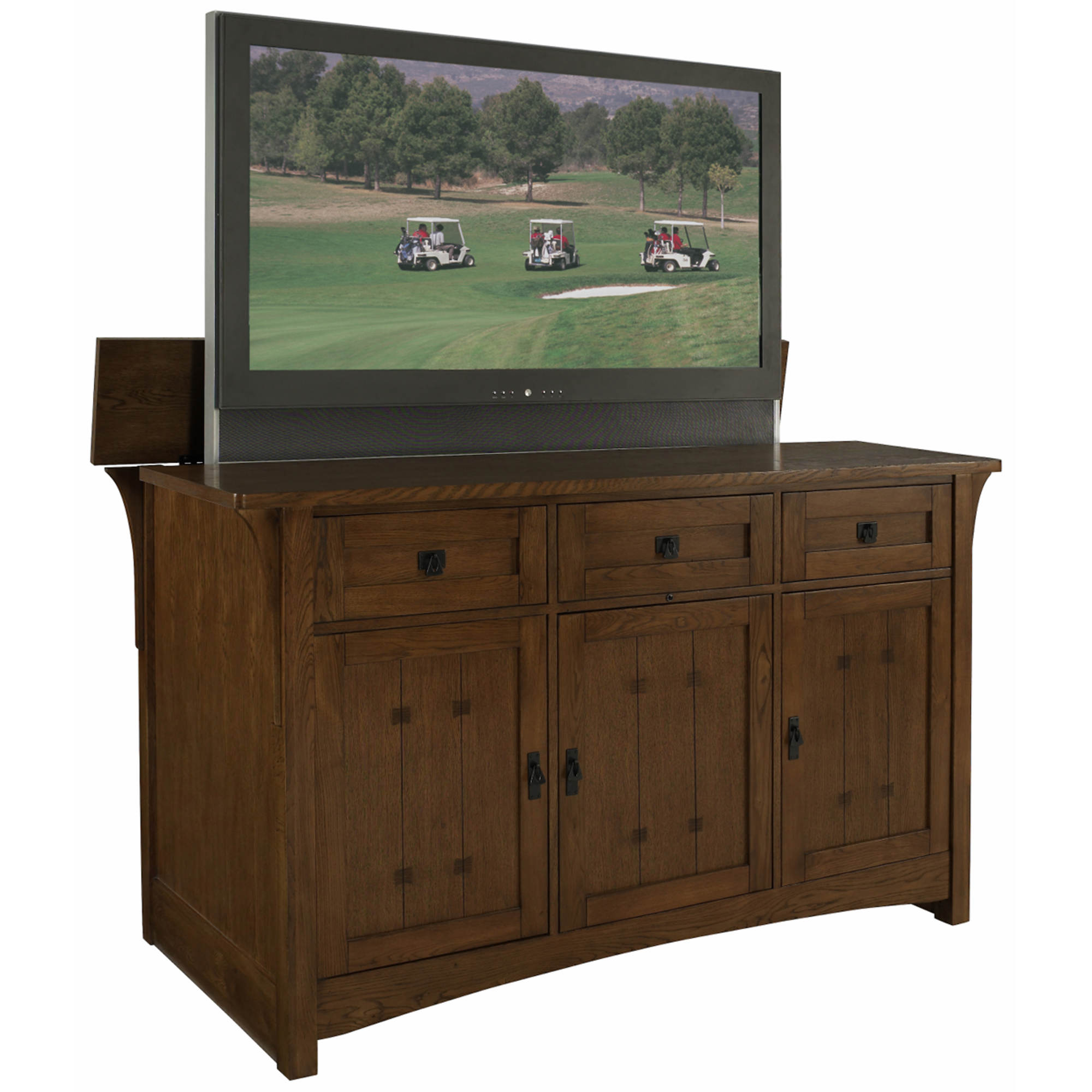 Craftsman Tv Lift Cabinet With Motorized Lift Bjs