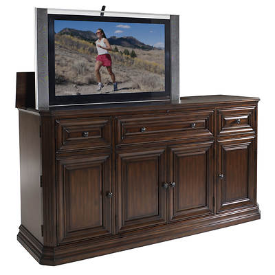 Kensington TV Lift Cabinet with Motorized Lift - Brown