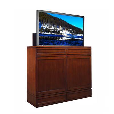 Moderna Tv Lift Cabinet With Motorized Lift Caramel Bj