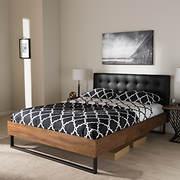 Baxton Studio Mitchell Queen-Size Bed - Black